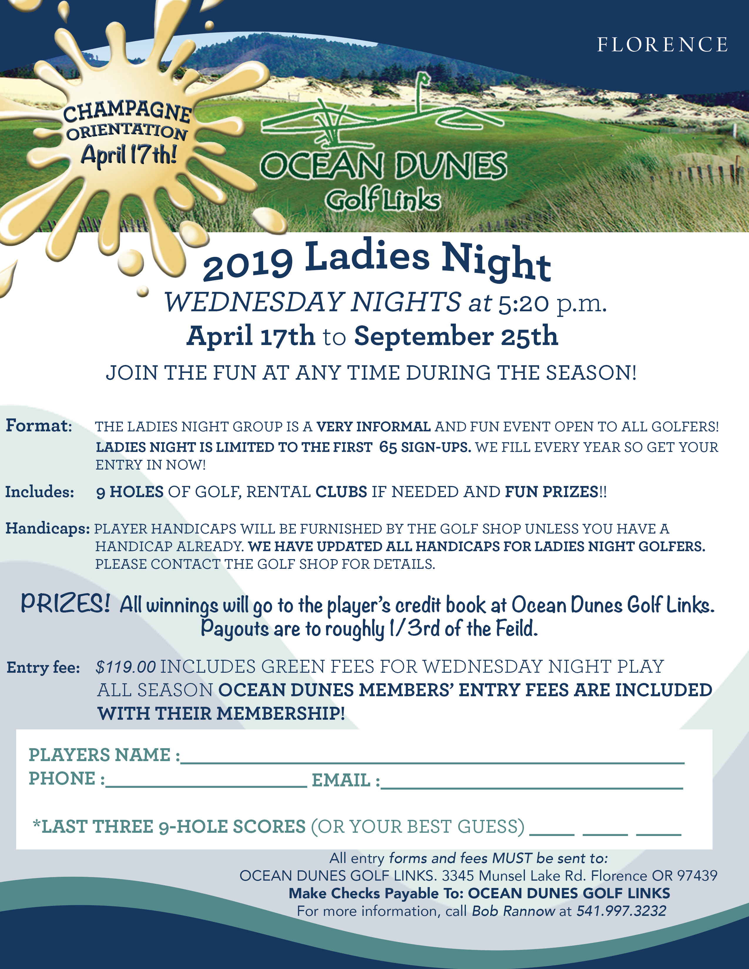 Ocean Dunes Golf Tournaments Florence Or