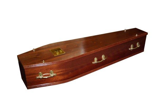 No. 1 Mahogany Coffin