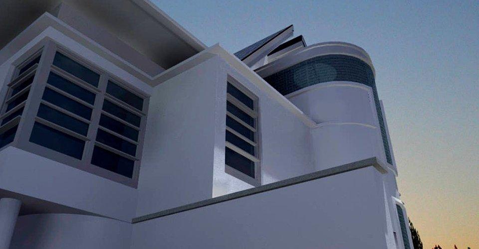 stylish building