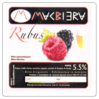MacBiera - Rubus - Birra al lampone