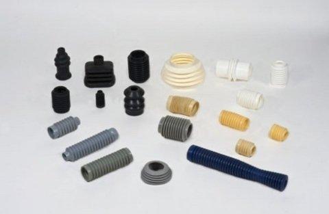 Particolari di stampati gomma e metallo