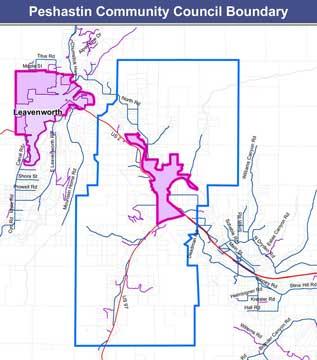 Peshastin Boundary Map