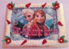 torta con foto cartoni animati frozen