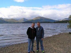 On the shore at Loch Lomond