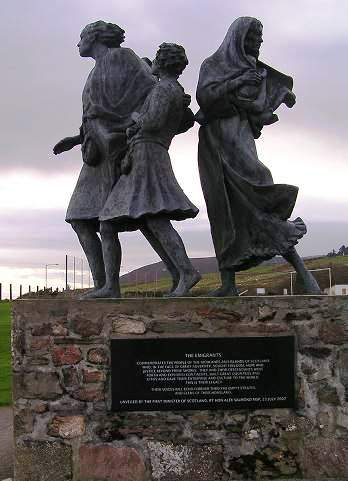 The Emigrants statue, Helmsdale