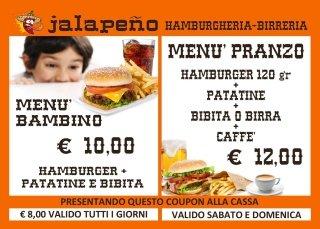 buono promozionale, buono hamburger