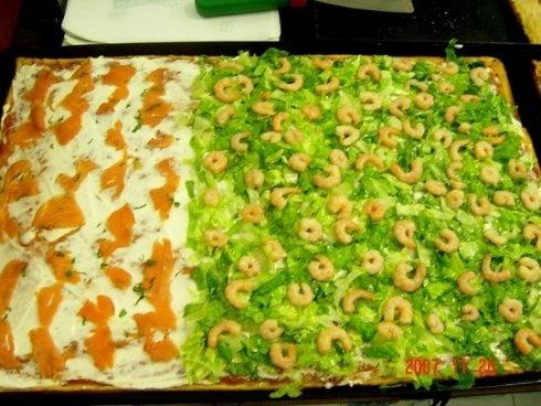 pizza al taglio al pesce