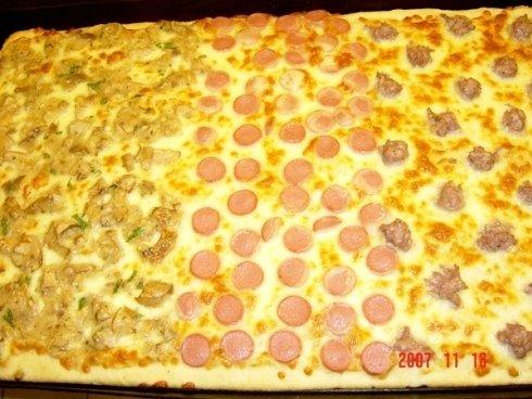 pizza bianca al mattone