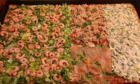 Pizza al taglio con pesce, Fiano Romano