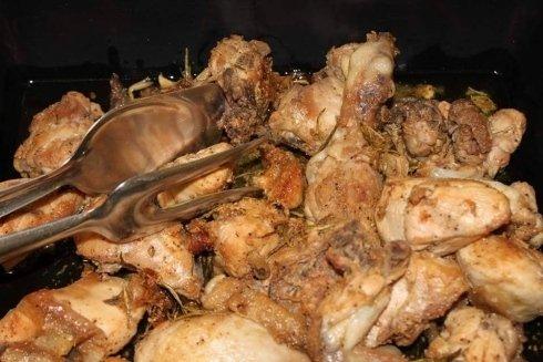 pollo. pollo arrosto, pollo alla cacciatora, fiano romano