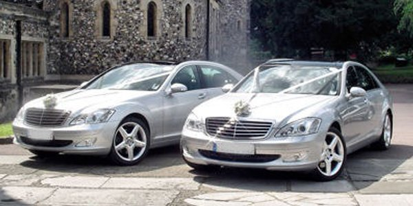 parked luxury cars