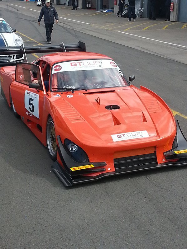 front view of the car