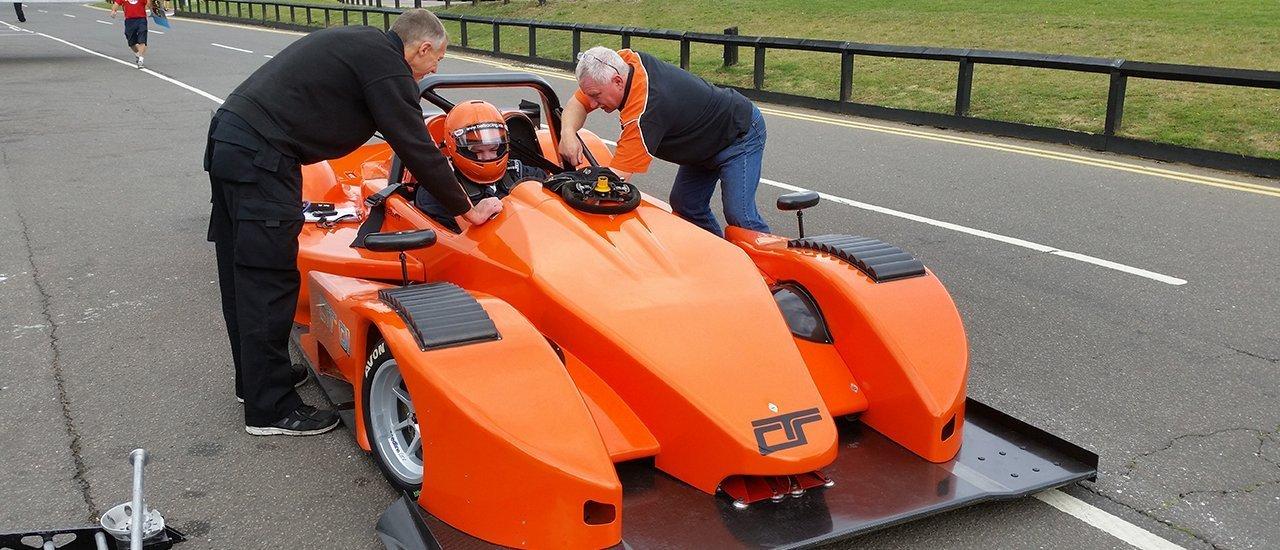racing car testing