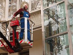 Schaufensterreinigung in Geschäften