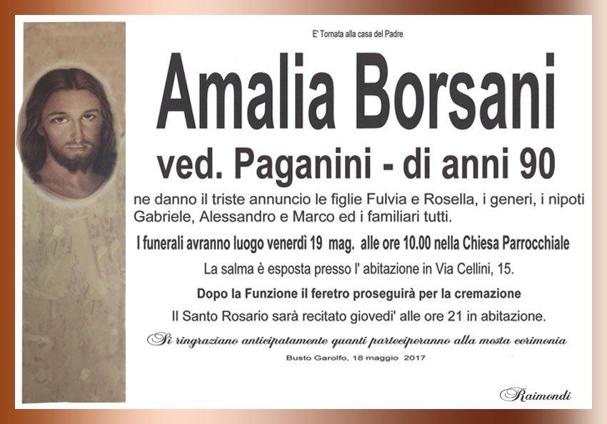 Amalia Borsani manifesto Raimondi Pompe Funebri Busto Garolfo