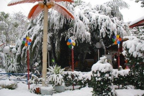 Parco giochi aperto anche in inverno