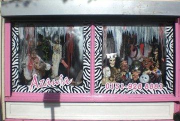 Fancy Dress Costumes - Waterloo, Liverpool - Azania Fancy Dress - Shop Outside