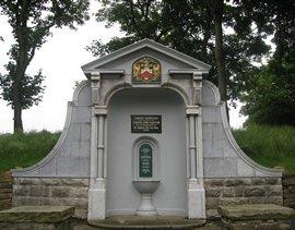 The restored memorial