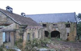 The dilapidated stable block