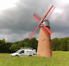The restored windmill