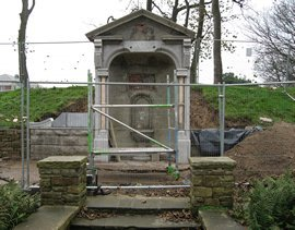 The dilapidated memorial