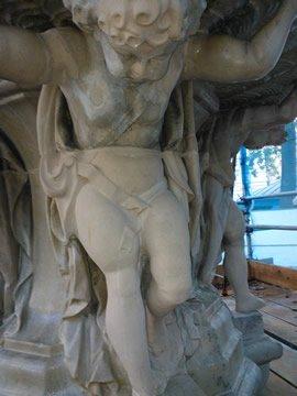 The restored statue