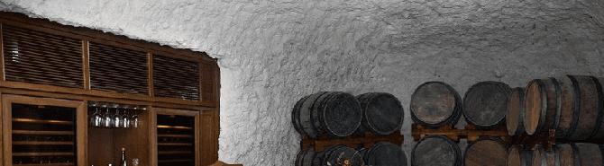 An underground wine cellar