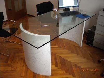 gambe curve per tavolo studio