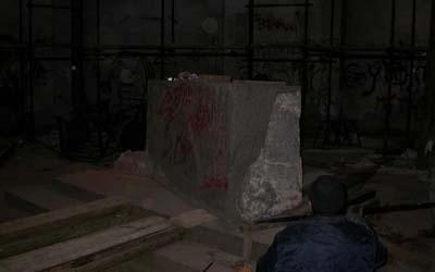 blocco marmo per mausoleo