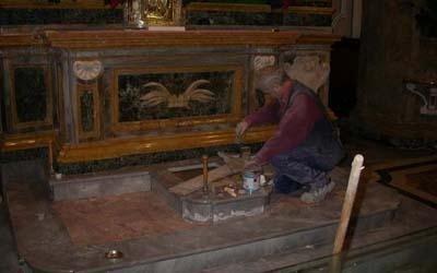 lavori di posa marmo