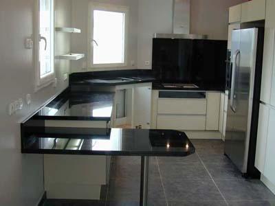 cucina in granito Nero Assoluto