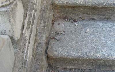 intervento restauro scalinata