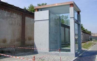 edicola in pietra di Luserna
