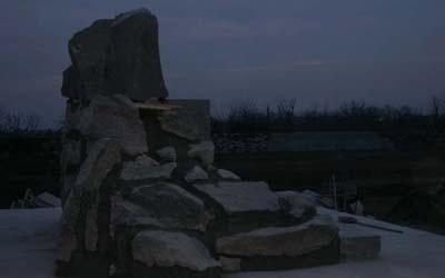 mausoleo visto lateralmente