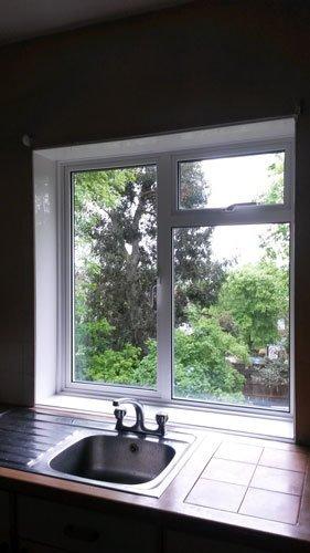 White window frames