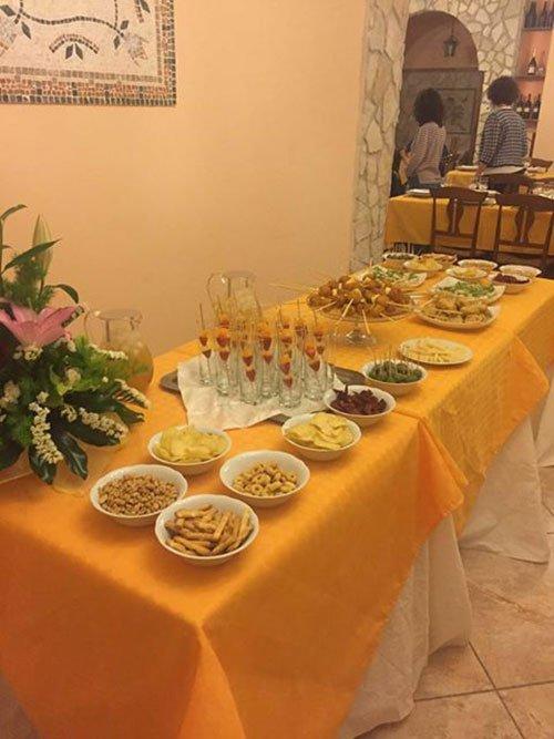 buffet di antipasti