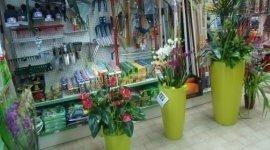 pale, rastrelli, vasi fiori
