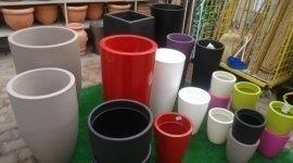 vasi colorati, contenitori fiori, vasi per l