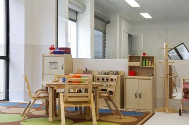 My Cubby House Southport Child Care Centre Activity Facility Brown Chair with Cabinet for Kids