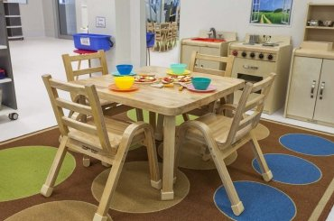 My Cubby House Child Care Centres Gold Coast Activity Facility Brown Table and Chair