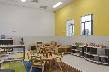 My Cubby House Southport Child Care Centre Activity Facility Brown Table and Chair on Playground