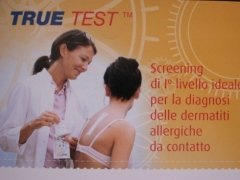 test allergie, arrossamenti cute, testi chimici