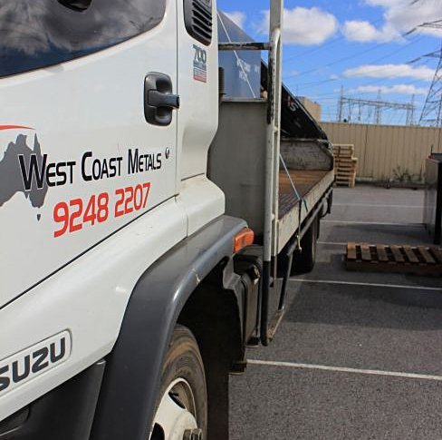 Our truck for metal recycling services in Perth