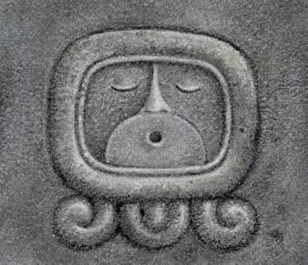 the icon for the last Day Sign in the Maya group of Sacred Count Day Signs, Ahau