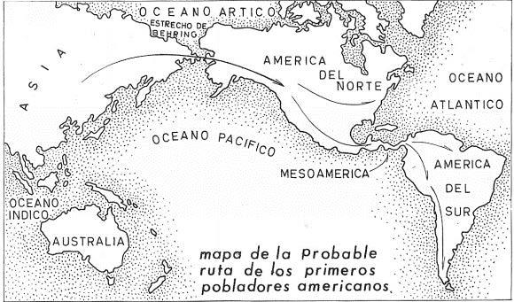 At the end of the Ice Age, about 10,000 to 40,000 years ago, Asian groups migrated through Bering Strait into the Americas