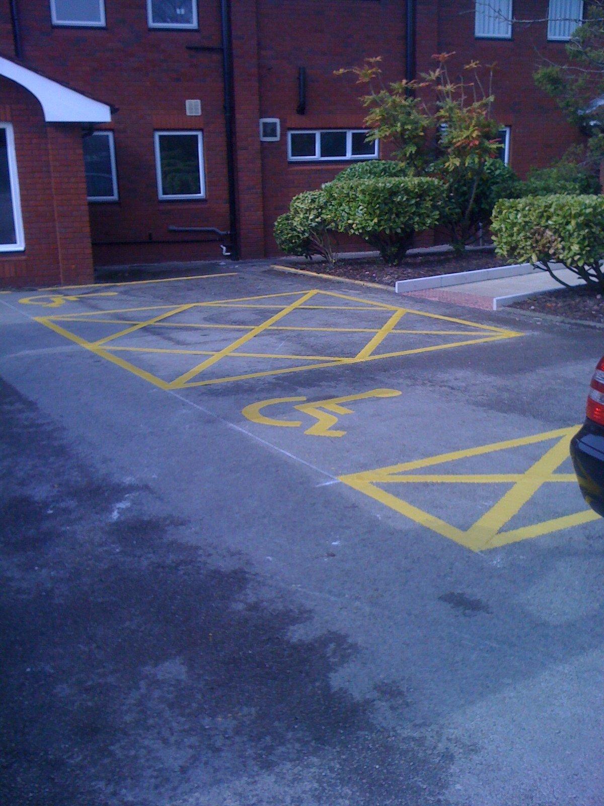 disabled car parking spaces