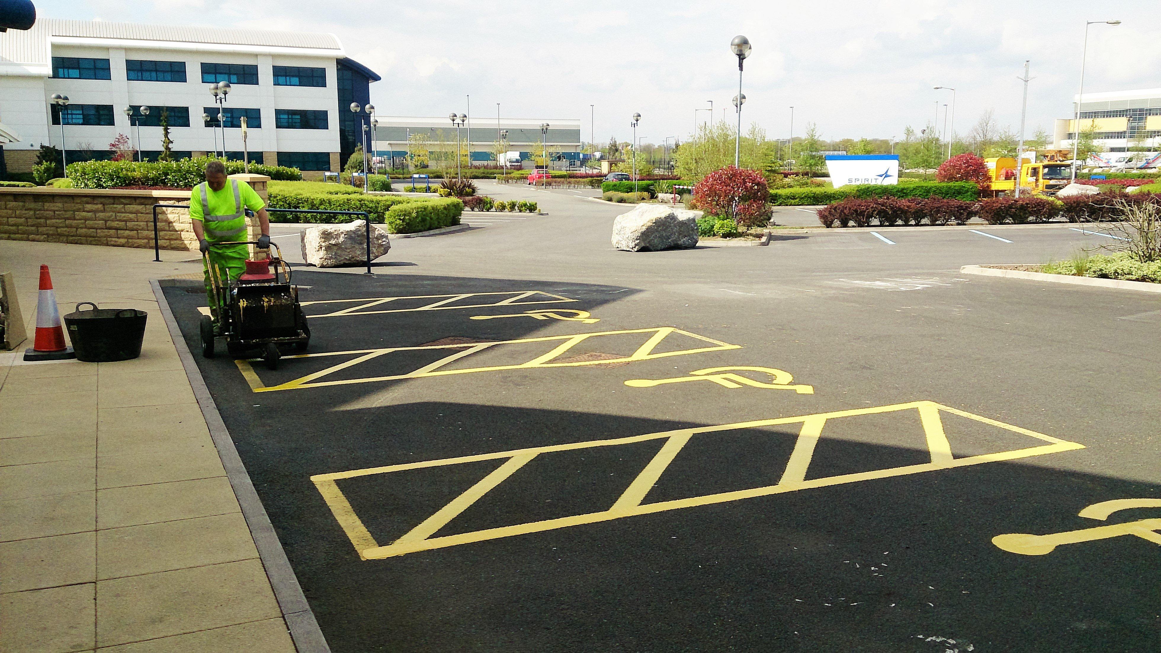 disabled car parking lines