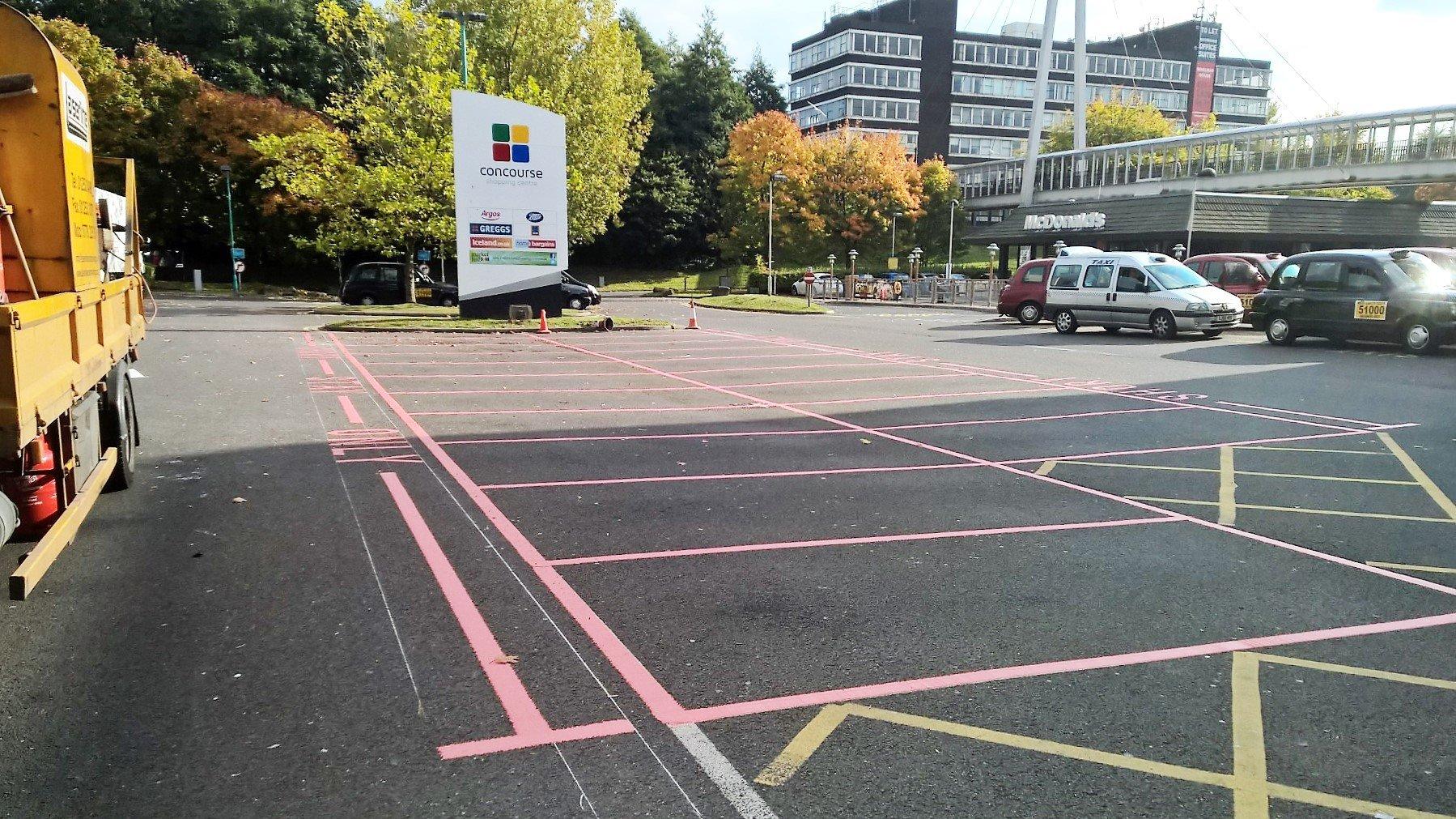 car park lines