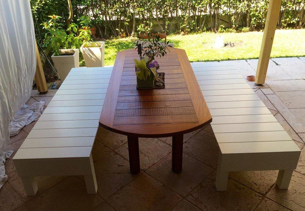 tavolo e panche da giardino