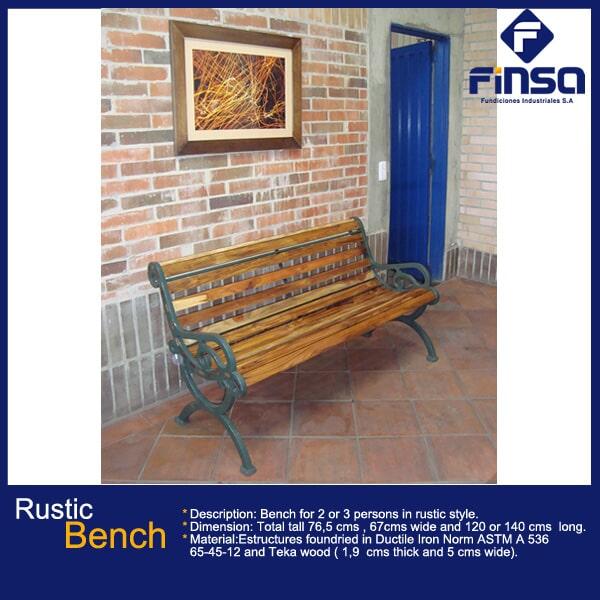 Fundiciones Industriales S.A.S - Rustic Bench